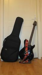 Электро гитарка с Ацким ремнем и чехлом)3500руб