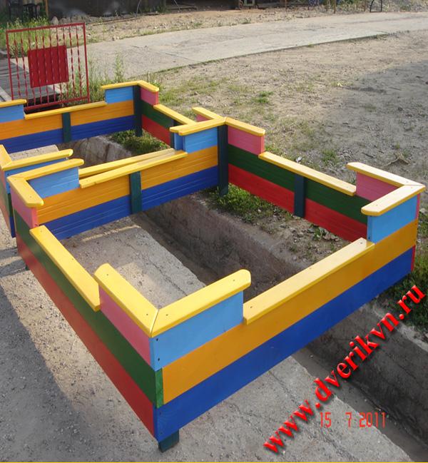 деревянные детские песочницы фото