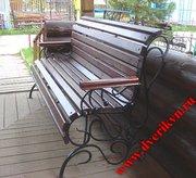 Садовые и парковые лавочки и скамейки на заказ,  изготовление