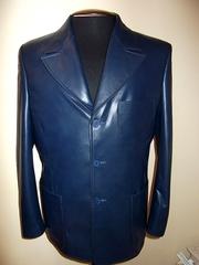 продам пиджак кожаный только что сшитую из итальянской кожи