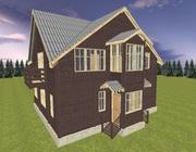Дом из бруса на две семьи,  проект