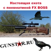 Настоящая охота с пневматикой FX BOSS,  сверхмощная пневматика FX BOSS