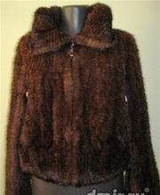 Куртка норковая вязаная греция