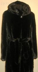 Шуба норковая цельная Греция длина 90см р. 42-44-46