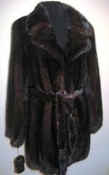 Полушубок норковый цельный длина 85см Греция 42-44-46
