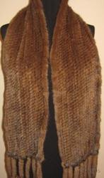 Шарфы из норки вязаной  Греция