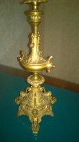 старинная настольная лампа ( бронза)