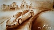Песочное шоу и рисование светом в Москве