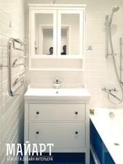 Ремонт ванной комнаты с дизайнером.