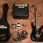 Гитара ESP LTD M-200FM и аксессуары