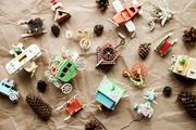 Елочные игрушки и сувениры из дерева,  ручной работы