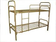 Одноярусные,  двухъярусные,  трехъярусные металлические кровати оптом