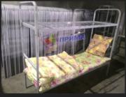 Кровати 1-ярусные и 2-ух ярусные металлические