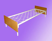 Пружинные кровати металлические,  Кровати спинки ДСП