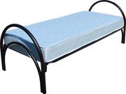 Односпальные кровати металлические одноярусные,  двухъярусные