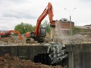 демонтаж фундамента и бетонных конструкций