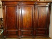 Антикварный платяной шкаф конца 19 века