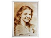 Портреты и картины выжженные на дереве по фотографии.
