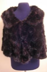Новая накидка из норки вязаной модель,  цвет разный